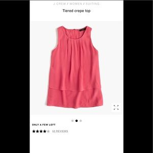 J Crew Tiered Tank top in light blue